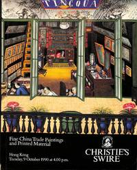 Sale 021, 9 October 1990 : Fine China Trade Paintings, Books, Manuscripts  and Photographs.