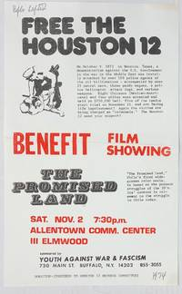 image of Free the Houston 12... Benefit film showing: The Promised Land... [handbill]