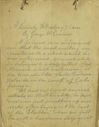"California Whaling Scene Manuscript. Entitled:  ""A Lively Whaling Scene"""