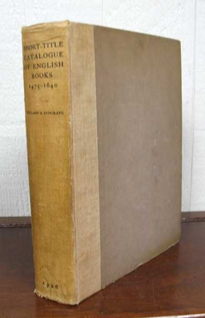 London: The Bibliographical Society, 1926. 1st edition. Linen cloth spine with brown paper-wrapped b...