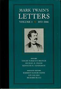 image of Mark Twain's Letters, Volume 1: 1853-1866