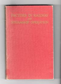 Factors In Railway And Steamship Operation
