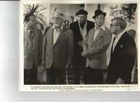 PHOTOGRAPH SIGNED BY RAY BOLGER, GEORGE BURNS, AND KEYE LUKE