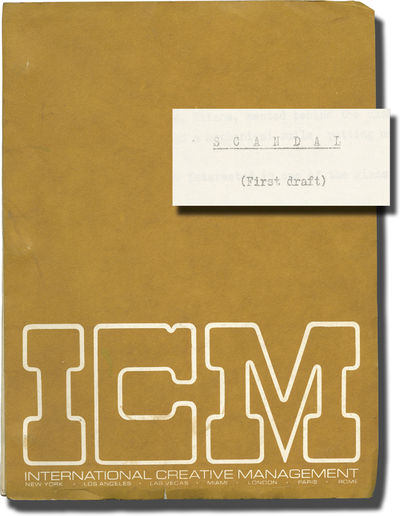 Rome: Ciesi, 1975. First Draft script for the 1976 film. Here under the working title,