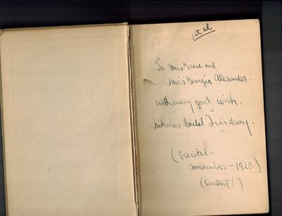 New York: The Macmillan Company, 1920. Presentation Copy, SIGNED AND INSCRIBED BY AUTHOR on front en...