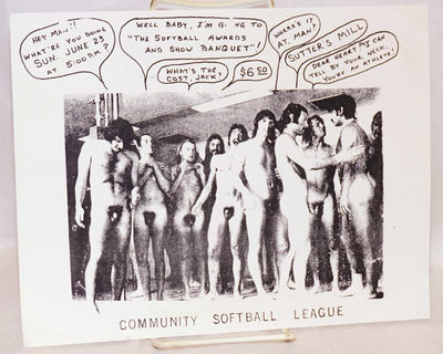 San Francisco: Community Softball League, no date. Single sheet handbill 8.5x11 inches, white stock ...