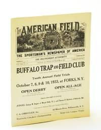 The American Field - The Sportsman's Newspaper [Magazine] of America, September [Sept.] 16, 1933, Vol. CXX, No. 37 - Manitoba Prairie Chicken Championship / Wild Life League Trials