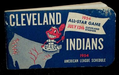 Chicago: Fred J. Rigley Co, 1954. From the Indians' pennant-winning year. Small stapled pamphlet wit...