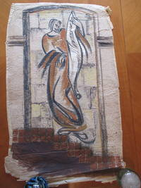 Original Drawing: Study For Modernist Architectural Color Sgraffito / Mural