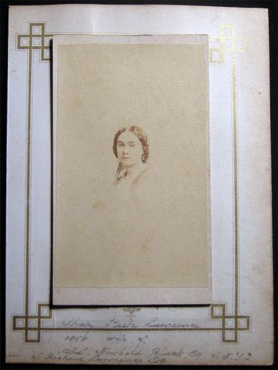New York, NY: Rockwood, Photographer, 1858. Carte-de-visite photograph, accompanied by the original ...