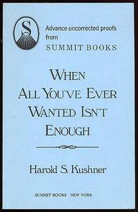 New York: Summit Books, 1986. Softcover. Fine. First edition. Uncorrected Proof. Fine in wrappers.