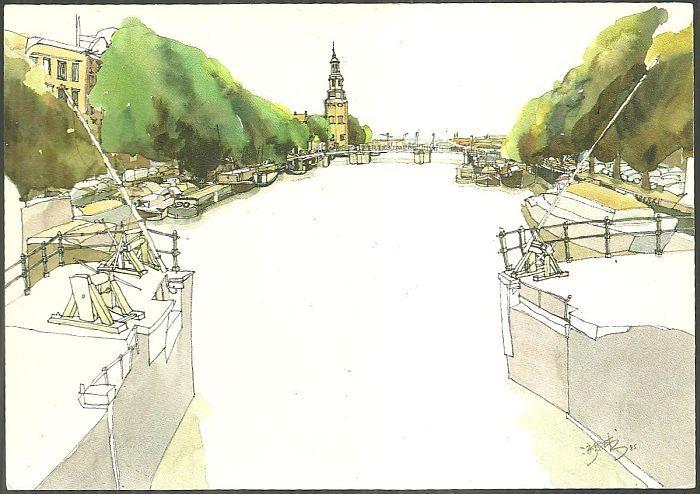 CHIN SHEE KHEW POSTCARD OF AMSTERDAM CANAL, Postcard