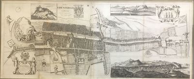 London, 1814. unbound. very good. Map. Engraving. 17 x 42 inches. Finely framed it measures 24 5/8 x...