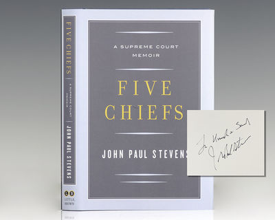 New York: Little Brown and Company, 2011. First edition of this memoir from Justice John Paul Steven...