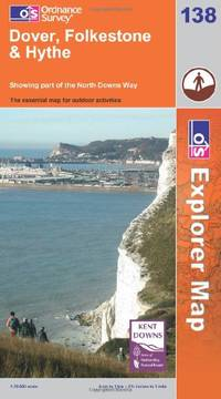 image of Dover, Folkstone and Hythe (Explorer Maps)
