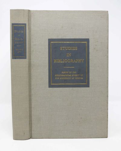 Charlottesville: The University Press of Virginia, 1977. 1st prtg. Grey cloth. Fine.. 286 pp. 8vo.