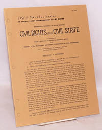Civil rights and civil strife: a condensation of chapter 5. Rejection and protest/an historical sketch of the report of the National Advisory Commission on Civil Disorders