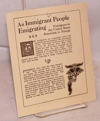 An immigrant people emigrating: foreigners in the United States returning to Europe