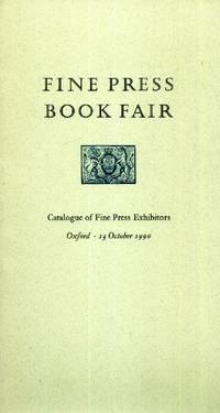 Fine Press Book Fair, Catalogue of Fine Press Exhibitors, Oxford, 13 October 1990