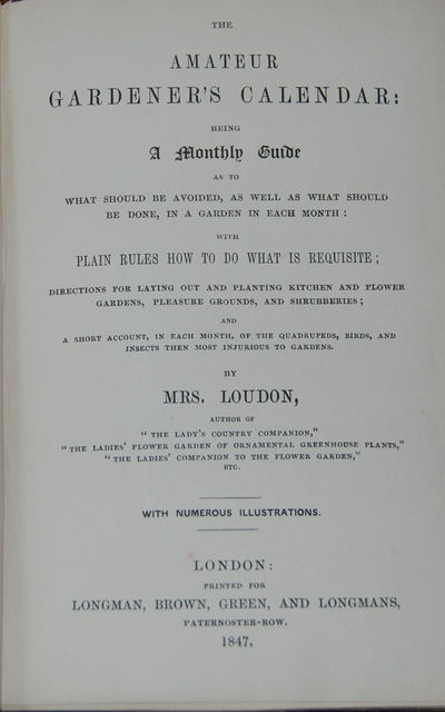 London: Longman, Brown, Green and Longmans, 1847. First Edition. 8vo, pp. xx, 372 + adv. Bound in bl...