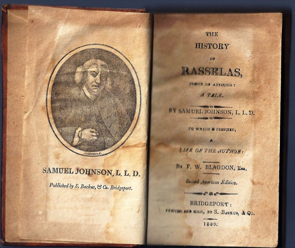 a review of the history of rasselas prince of abyssinia A novella written by the man in 1759: the history of rasselas, prince of  abissinia  the central plot of johnson's effort concerns rasselas, the titular  prince of abyssinia, and how he  survey mankind, from china to peru.