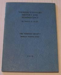 Thoreau's Editors History and Reminiscence