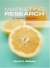 image of Marketing Research: An Applied Orientation (5th Edition)