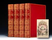 Cosway Style Portraits of Francis Bacon, Robert Burns, Henry Longfellow, John Ruskin, John...