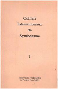 image of Cahiers internationaux de symbolisme n° 1