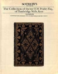 Sale 13-15 January 1988: The Collection of the late H.W. Pratley Esq., of  Tunbridge Wells, Kent.