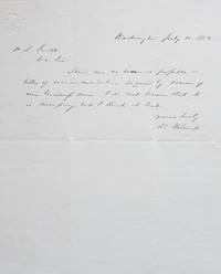Autograph Note Signed, as U.S. Senator from Pennsylvania, Washington, D.C., July 10, 1862, to H. L. Scott