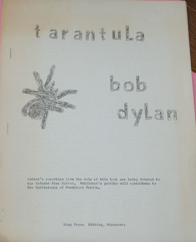 Hibbing, Minnesota: Wimp Press, 1966. First Edition (Pirated). 4to, stapled wraps,pp. 54, Stapled wr...