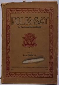 Folk-Say A Regional Miscellany No.1, 1929