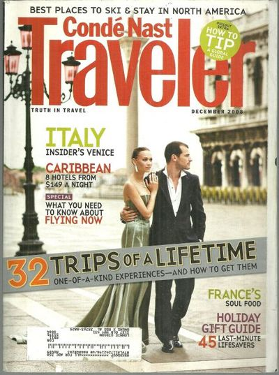 CONDE NAST TRAVELER MAGAZINE DECEMBER 2008, Conde Nast