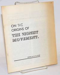 On the origins of the Zionist movement