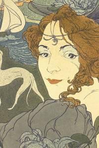 """""""Retour"""""""" Rare original color lithograph by Georges de Feure for L'Estampe Moderne on Japan paper"""