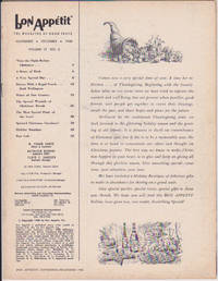 Bon Appétit, November-December 1968, Volume 13, No. 6
