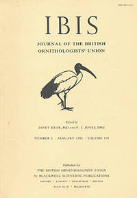 The Ibis. Journal of the British Ornithologists' Union. Volume 130. Nos 1 and 4. 1988
