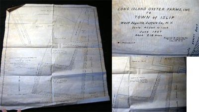 Islip Long Island New York: Eugene R. Smith, Inc. Civil Engineers, 1926. Two conveyance maps, the Lo...