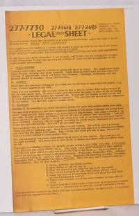 image of Legal Street Sheet [handbill]