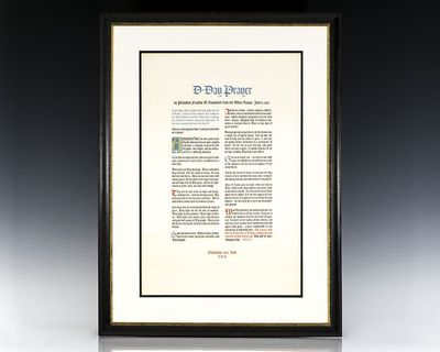 Washington, D.C, Christmas, 1944. Limited edition of this rare broadside of the