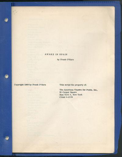 New York: The American Theatre for Poets, Inc, 1960. Softcover. Near Fine. First edition. Quarto. Mi...
