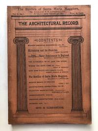 The Architectural Record, Vol. II, no. 1, July-September 1892