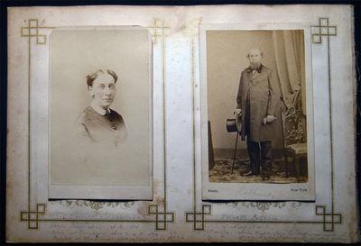 New York & Philadelphia: Brady & H. Manger's Photograph Gallery, 1860. Two carte-de-visite photograp...