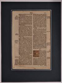 Original Leaf from a Luther Bible 1540