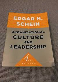 Organizational Culture and Leadership by  Edgar H Schein - Paperback - Fourth Edition - 2010 - from 84 Charing Cross Road Books and Biblio.co.nz