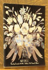 ART DECO -  SOTHEBY PARKE BERNET - SOTHEBY'S YORK AVENUE GALLERIES NEW YORK DECEMBER 18, 1980