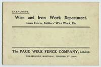 image of Page Wire Fence Company catalogue