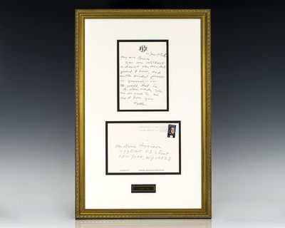 Autograph letter signed by Harper Lee on her personal monogram letterhead, June 26, 2009. The letter...