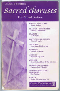 SACRED CHORUSES For Mixed Voices